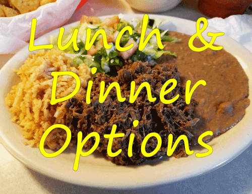 Lunch & Dinner Options